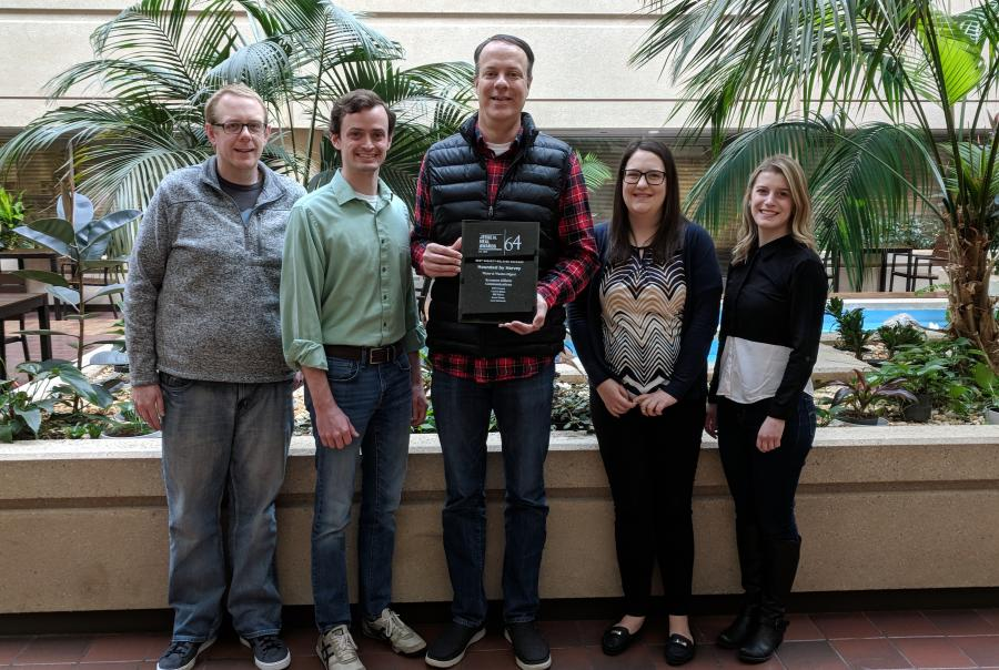 Water & Wastes Digest Designer Jason Kenny, Managing Editor Bob Crossen, Editorial Director Bill Wilson, Associate Editor Amy McIntosh and Associate Editor Lauren Baltas won the Jesse H. Neal Award for Best Subject-Related Package.