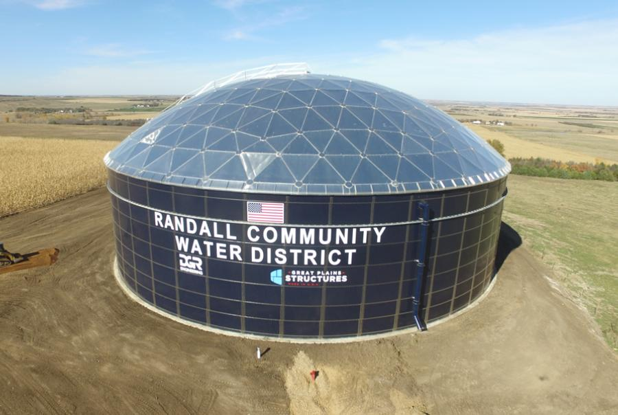 South Dakota water district adds tank to expand storage capacity by 3 million gal