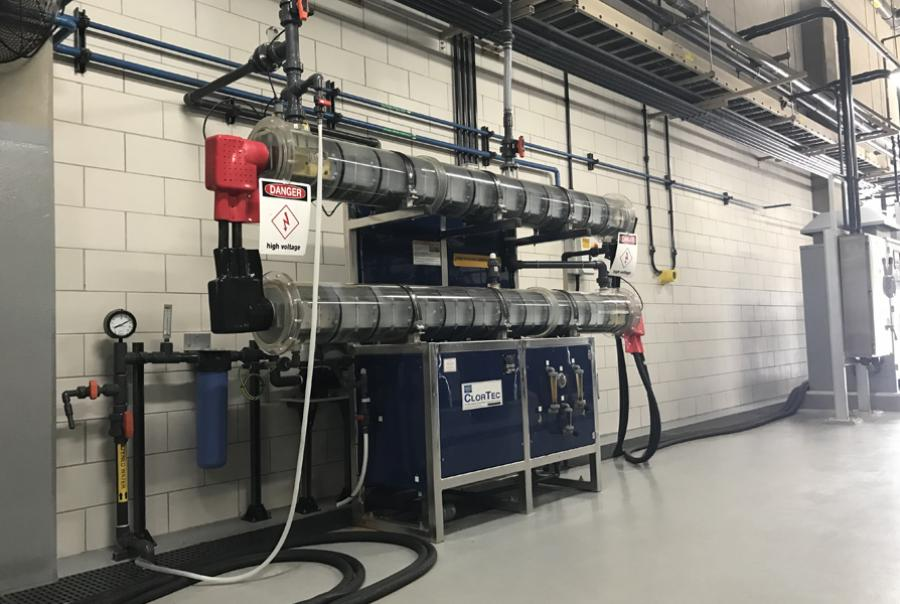 ClorTec 2x CT1500 PPD OSHG system from De Nora installed in 2012
