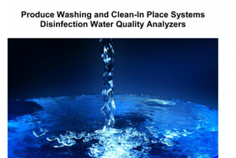 Produce Washing & Clean-in-Place Systems Disinfection Water Quality Analyzers