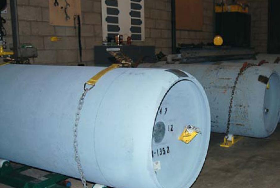 Water treatment plant chlorine tanks