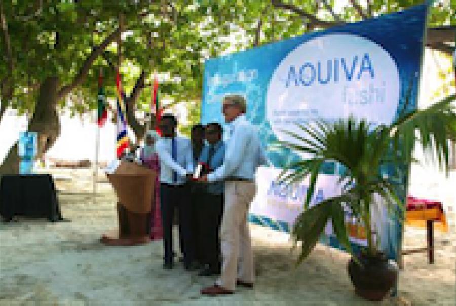 Aquiva Foundation memsys Stemco Maldives Guhli desalionation waste heat