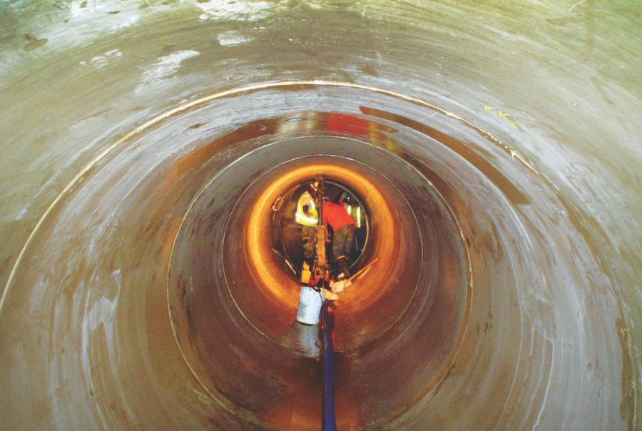 Pipe receives new liner