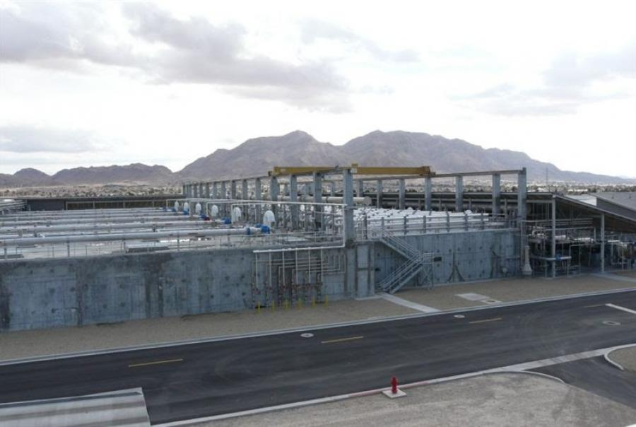 North Las Vegas Wastewater Treatment Facility GE membrane LEAPmbr