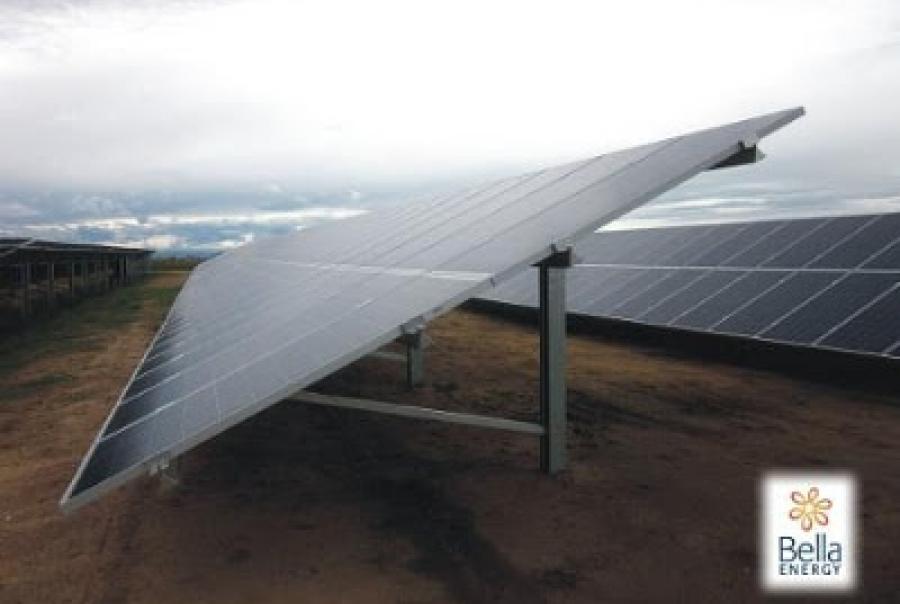 Kersey Colorado solar energy wastewater treatment plant Bella