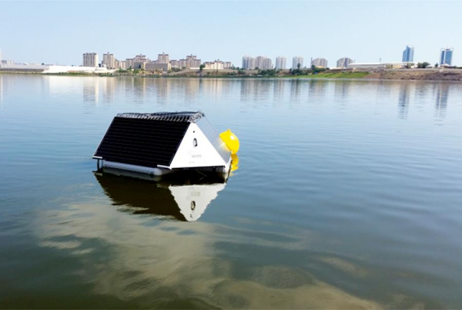 Ultrasonic bouy system monitors, predicts 